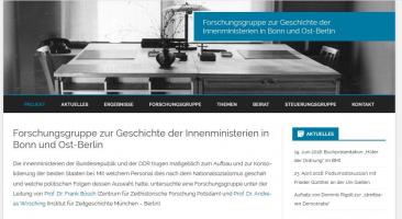 Startseite der Website des Projekts (Sceenshot vom 12.06.2018)