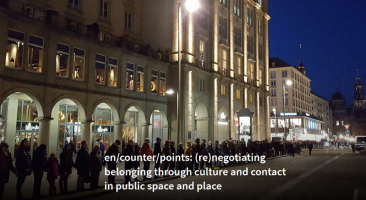 Screenshot, Website: Project: en/counter/points: (re)negotiating belonging through culture and contact in public space and place