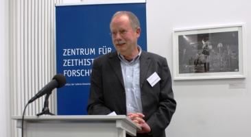 """ZZF-Tagung """"Arbeitswelten im 20. und 21. Jahrhundert"""": Professor Rüdiger Hachtmann hielt am 29. November 2018 den Abendvortrag mit dem Titel """"Der Fordismus in seiner Epoche – und danach?"""", Foto: Marion Schlöttke"""