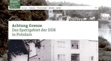Startseite der Website des Projekts (Sceenshot vom 09.11.2018)