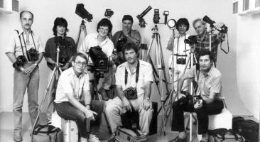 Fotografen des ungarischen Magazins »Képes 7«, 1986 (Archiv Imre Benkő)