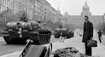 Prag, Wenzelsplatz, 21.08. 1968