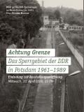 Das Cover des Einladungsflyers zeigt einen Blick auf die DDR-Sperranlagen im Neuen Garten (ca. 1985), Foto: Potsdam Museum.