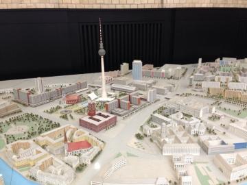 Modell of Ost-Berlin, Senatsverwaltung für Stadtentwicklung, Photo: Hanno Hochmuth