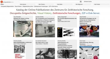"Online-Portal ""Zeitgeschichte digital"", Sceenshot"
