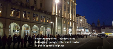 Screenshot der Website Projekt: en/counter/points: (re)negotiating belonging through culture and contact in public space and place
