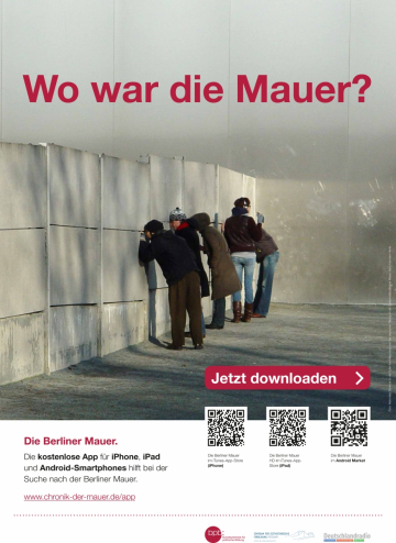 "Poster for the app ""The Berlin Wall"""