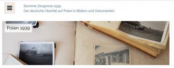 """Startseite der Online-Ausstellung """"Stumme Zeugnisse 1939"""", Sceenshot Website Gedenk- und Bildungsstätte Haus der Wannsee-Konferenz (14.11.2019)"""