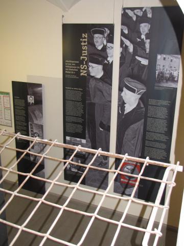 """Exhibition """"Rassenhygiene und Terrorjustiz"""" at the Lindenstraße Memorial Site, Photo: Marion Schlöttke"""