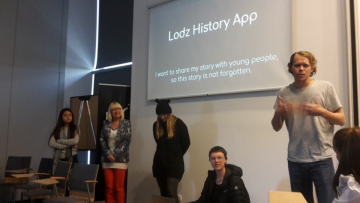"Workshop ""Rethinking Memory Culture"" 2018: Presentation of the first project ideas for the Lodz app (Photo: Irmgard Zündorf)."