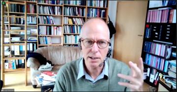 """Master Class mit Prof. Dr. Lutz Raphael (Trier) am 24. Juni 2021 zum Thema """"Methoden des Periodisierens"""" via Zoom , Screenshot: ZZF Potsdam."""