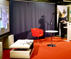Bei der Preisverleihung 2020 war Preisträger Kim Christian Priemel (links) digital zugschaltet, Foto: Stefanie Eisenhuth