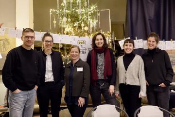 Das Dialogreise-Team in Garrey, Foto: Stefanie Eisenhuth