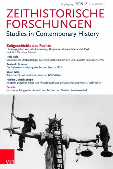 Heft-Cover der Zeithistorischen Forschungen 2/2019