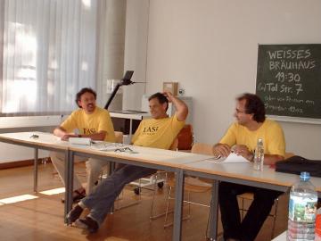Bei der TASI 2003 in München: Martin H. Geyer, Eric D. Weitz undThomas Lindenberger