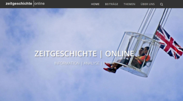 Startseite des Fachportals zeitgeschichte | online, Sceenshot vom 05.07.2019