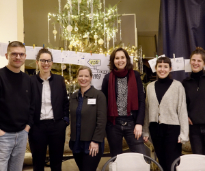 Das Dialogreise-Team in Garrey (v.l.n.r.): Clemens Villinger, Kathrin Zöller, Kerstin Brückweh, Henrike Voigtländer, Katharina Hackl, Pia Kleine, Foto: Stefanie Eisenhuth