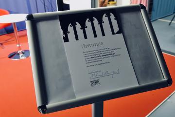 Die Urkunde des Fördervereins