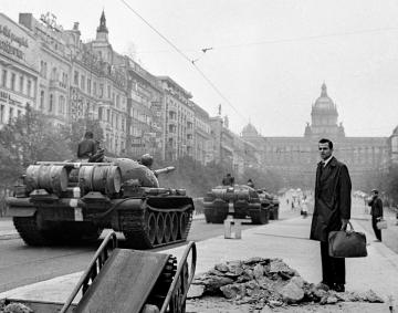 Prag, Wenzelsplatz, 21.08.1968, Foto: Vladimir Lammer