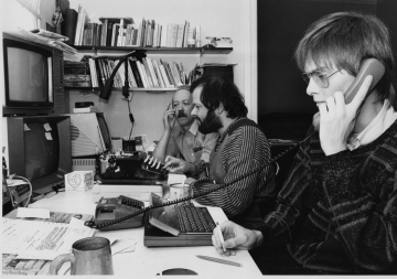 Hacker des Chaos Computer Club, ca. 1987 (Foto: Reinhart Janke)